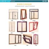 China Aluminium Wooden Grain Window Factory Price
