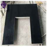 Polihsed Black Granite Fireplace, Stone Fireplace Hearth for Home Villas Hotel