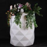 Luxury Furniture Plastic LED White Material Flower Pot