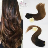 Tangle Free 100% Natural Brazilian Human Hair Balayage 2/6# Clip in Hair Extension