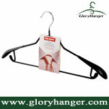 2016 Wide Shoulder Cloth Hangers with PVC Coated Metal Clips