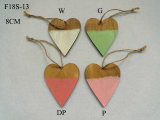 Wood Heart Colorful Easter Decoration