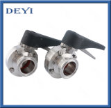 SS304/316L Stainless Steel Sanitary Manual Clamp Butterfly Valve with Clamp Ends (DY-BV1007)