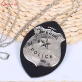 Factory Custom Military Army Police Badges Leather Ball Chain Necklace
