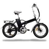 Ce En15194 Children 20'' Black Folding City Electric Bike