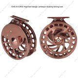 High Feet Design Smooth CNC Machine Cut Aluminium Centerpin Floating Fishing Reel 02A-CNC-III-Cp04