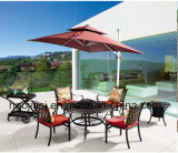 Outdoor /Rattan / Garden / Patio/ Hotel Furniture Cast Aluminum Chair & Barbecue Table Set (HS 3190C & HS 6125DT)