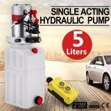 12V DC Single Acting Hydraulic Pump Power Unit Pack (Tipper/Trailer) with 5L Tank