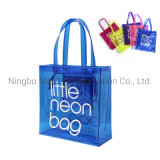 Custom Woman Soft Zipper Waterproof Clear Eco Friendly PVC Transparent Shopping Bag