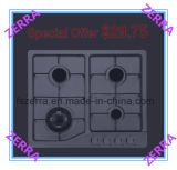 OEM Produced Four Burners Gas Hob with Ename Pan Support (JZS32003)