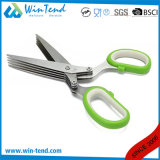 Manufactory Stainless Steel Kitchen Herb Scissors with TPR Handle