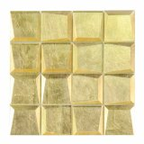 Interior Design for Home Wall Decoration Shine Gold Glass Mosaic