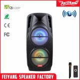 Double 12 Inch Activitie Outdoor Rechargeable Battery Speaker with USB/SD Bluetooth Wireless Microphones (F106D)
