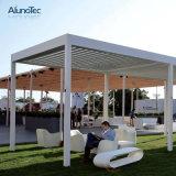 Motorized Outdoor Sun Shade Garden Aluminum Louver Roof Pergola Gazebo with LED or Side Screen