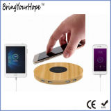 Wood Color Plastic Wireless Charger with 4 USB Ports (XH-PB-268)