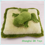 Green Frog & Giraffe Cushion Plush Animal Cushions Decorative Pillow
