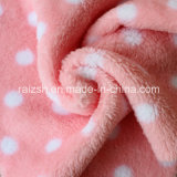 White Dots on Red Double-Knit Microsoft Coral Fleece Fabric