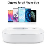Trend 2020 Qi 10W Multifunctional Quick Fast Charging Cell Mobile Smart Phone Wireless Charger UVC 15W UV Sanitizer Box for Phone Accessories