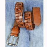 New Stylish Men's Genuine Leather Belt Fashion Male Accessories Yellow