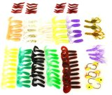 Fishing Lure Set - Grub, Earthworm, Baby Octopus