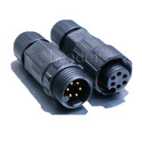 6 Pin Black Female and Male Round Waterproof Connector