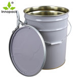 Paint Tin Bucket Sizes 20 Liter Metal Pail with Lock Ring Lid and Metal Handle
