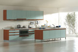 Laminate Kitchen Cabinet with Hanging and Floor Cabinet (_U2Z0137)