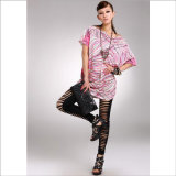 Western Style Hole in Silk Stockings Leggings for Woman′s Clothes