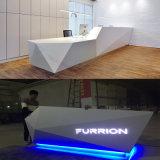 Diamond Shape White LED Logo Reception Counter