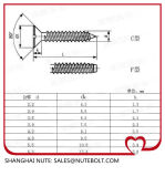 Slotted Countersunkhead Tapping Screws (DIN 7972) Stainless Steel 304 316