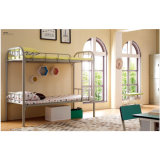 Metal Type Schoold Dormitory Furniture Bunk Bed with Stair