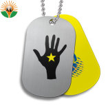 Custom Cheap Printed Blank Dog Tag with Ball Necklace
