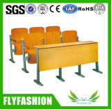 School Wooden Lecture Hall Desk and Chair Auditorium Folding Step Chair