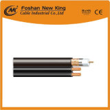 Standard Shield Cu/CCS Coaxial Cable RG6 with Power Cable for CCTV/CATV System