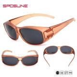 Stark Purple Myopia Glasses Frame Cheap Clip on Sunglasses UV Protective Traving Volleyball Driving Fishing Black Lens