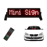 LED Car Sign Red Mini LED Auto Display Board 8*48 Single Line LED Display / Indoor 0r Semi-Door LED Display