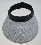 BSCI Summer Lady Silver Straw Visor Hat