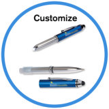 Logo Print Cheap Gift Promotion Touch Pen with LED