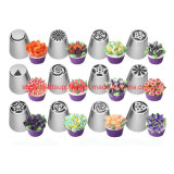 Russian Icing Piping Nozzles Stainless Steel Flower Cream Pastry Tips Cupcake Cake Decorating Tools