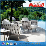 Outdoor Rope Weaving Dining Table and Chair Garden Furniture