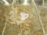 Tiger Yellow Granite Slab for Granite Countertop