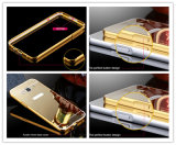 Gold Color Mirror Metal Bumper Acrylic Phone Case for Samsung