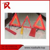 Roadway Safety Red White Plastic Emergency Warning Triangle Stand