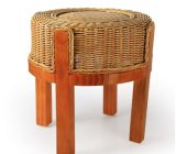 Solid Wooden Stool (M-X2129)