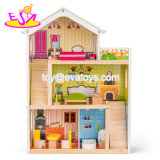 New Design Loving Wooden Dollhouse Family for Girls W06A316