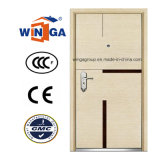 Competitive Luxury MDF Veneer Steel -Wood Armored Door (W-A8)