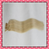Blonde Color Pre-Bonded Hair Extensions I-Tip 22inches