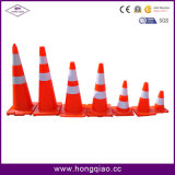 30cm/45cm/70cm/90cm Solid Fluorescent Traffic Cones