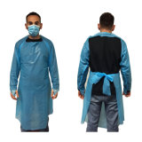 Disposable CPE Gown Cheap Long Sleeve Apron with Thumb Loop Cuff