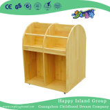 School Wooden Mobile Books Cabinet for Children (HG-4509)